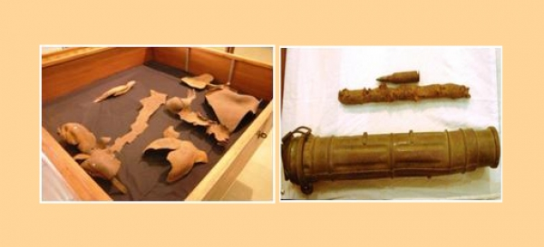 Permanent exhibitions: Bomb fragments
